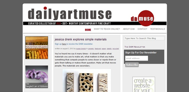 @Dailyartmuse : Showcase of the best contemporary fine craft found on the web. Curated by Susan Lomuto.
