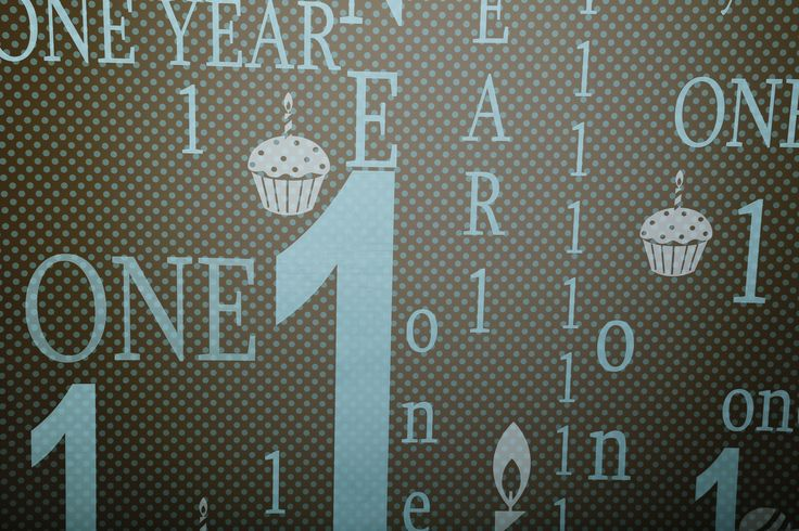 First Birthday Backdrop Blue