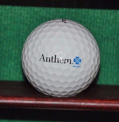Anthem Blue Cross Health Insurance logo golf ball. Titleist Pro V1