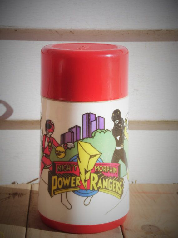 Power Rangers Aladdin Thermos Thermos by OldSteamerTrunkJunk