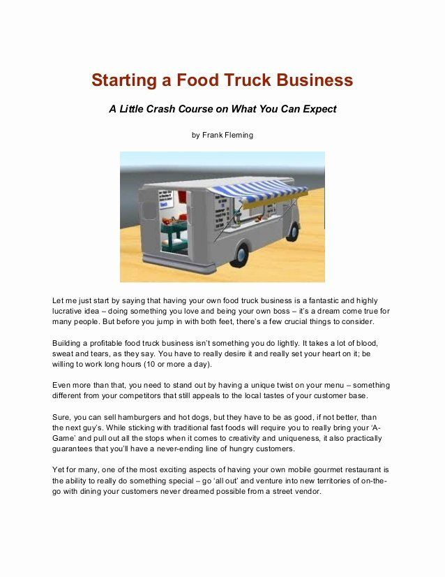 Food Truck Business Plan Template Fresh Business Plan Food Truck Ppt Templates Resume Exampl Food Truck Business Food Truck Business Plan Starting A Food Truck
