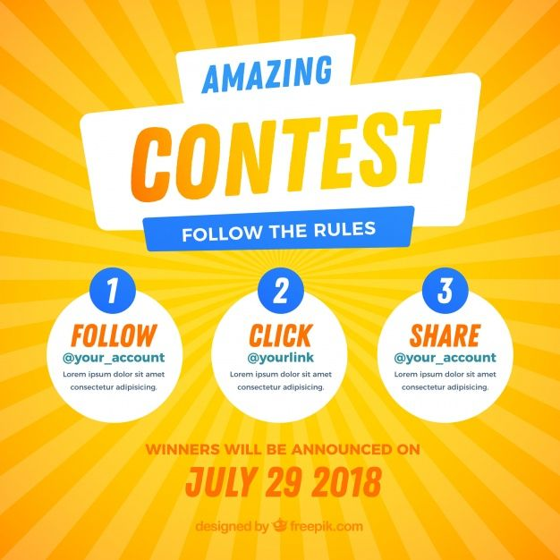 Download Social Media Contest Design For Free Social Media Contests Contest Design Contest Poster