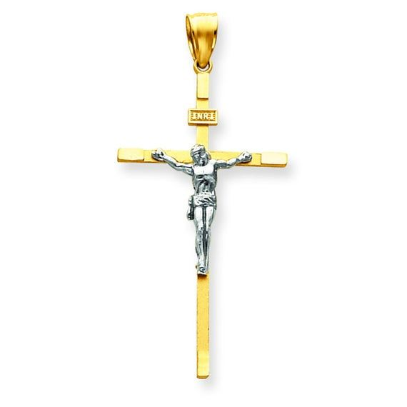 Sterling Silver Gold-Cross Pendant Solid 17 mm 29 mm Gold Tone Themed Pendants /& Charms Jewelry