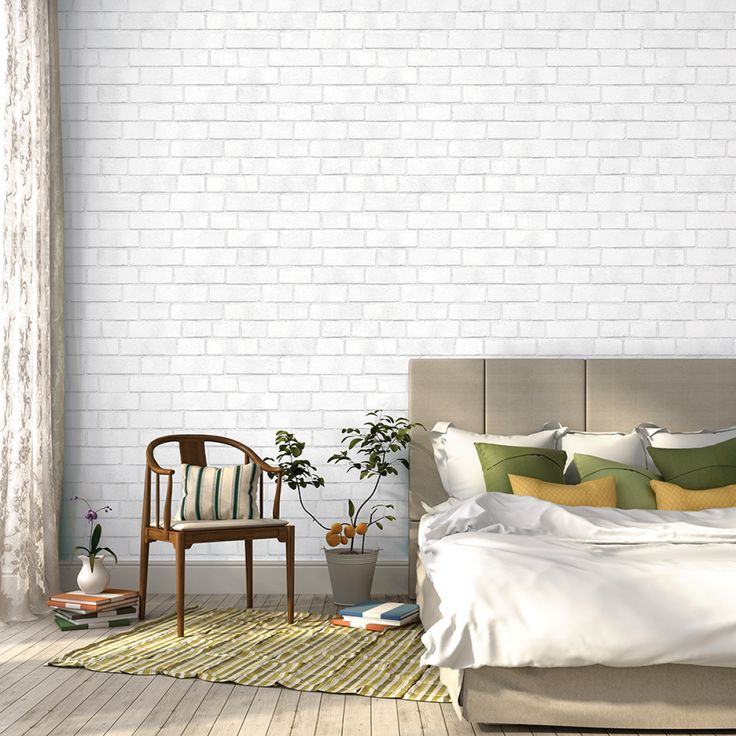 Brick White Removable Wallpaper By Tempaper Sold In A Double Roll This Pattern Is Textured Self Adhesive Temporary That Can Transform