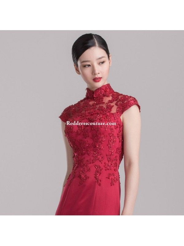 e6f266bc9bd Chinese Wedding Gown Modified Cheongsam Prom   Homecoming Dress Prom Dresses