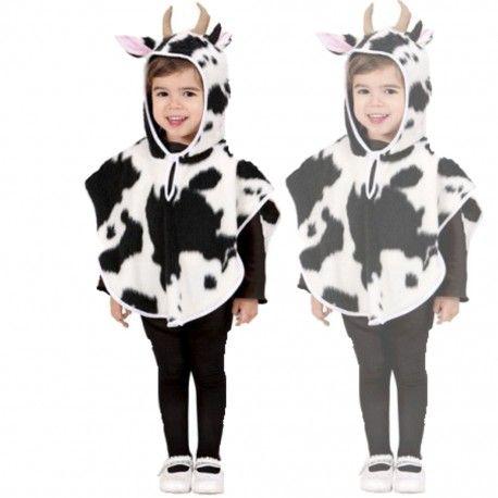 #Disfraz #Poncho #Vaquita Infantil, original disfraz de vaca para niños de 1 a 2…