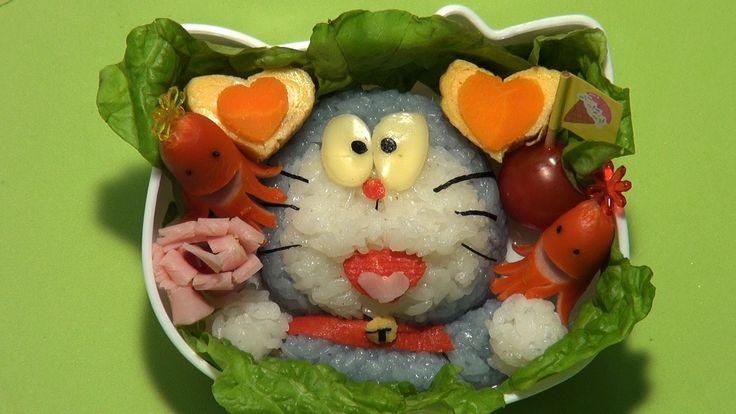 キャラ弁(ドラえもん)_face food recipe(doraemon)