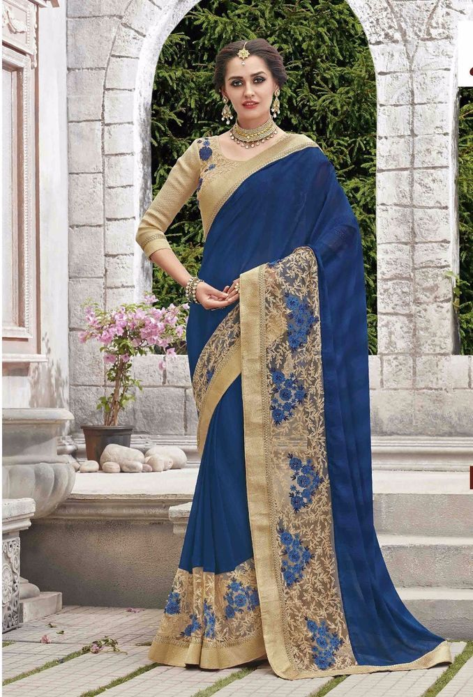 INDIAN SAREE SARI BLOUSE BOLLYWOOD DESIGNER PARTY WEAR DRESS SARI ETHNIC WEDDING #Unbranded #SareeSari #WeddingPartyWearSaree
