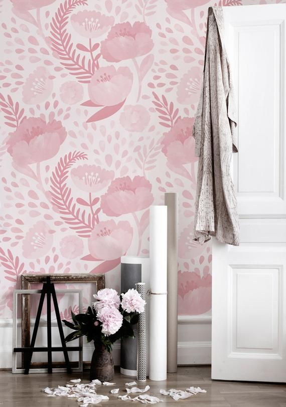 Hi Welcome In Natallies Bluedecormurals Shop My Removable Material Is Resistant To Tearing And Creasing A Matt Wall Murals Nursery Wallpaper Floral Decor