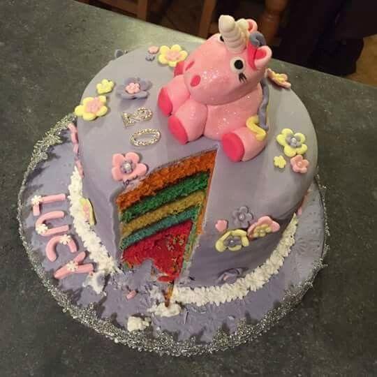 Rainbow unicorn cake - croston cakes