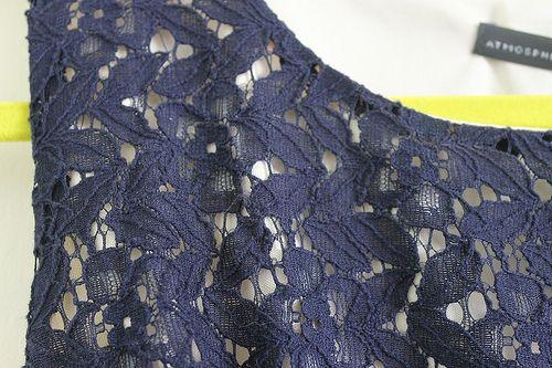 Navy lace dress primark
