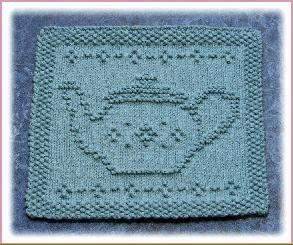 """Little Praying Cherub"" ""Tea Pot"" ""Little Dancer"" Knit Dishcloth Pattern"
