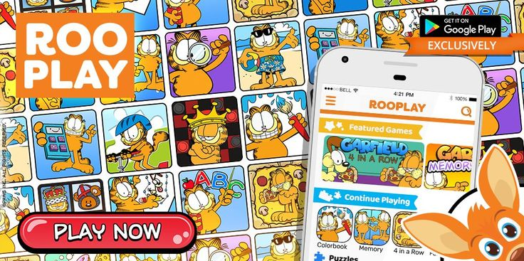 Play countless Garfield Original games on Rooplay, a games platform! Play them now on Google Play. Garfield, August 2017