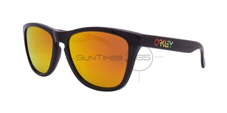 Oakley Frogskins Valentino Rossi 24-325 Polished Black / Fire Iridium