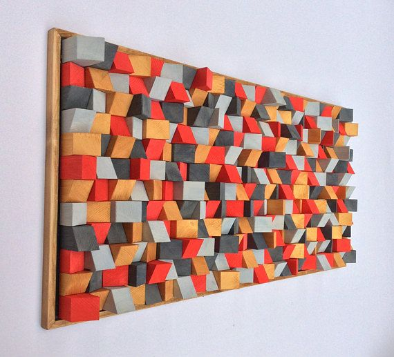 Wooden Wall Art 3D effect painted by artist Riccardo Ransarno