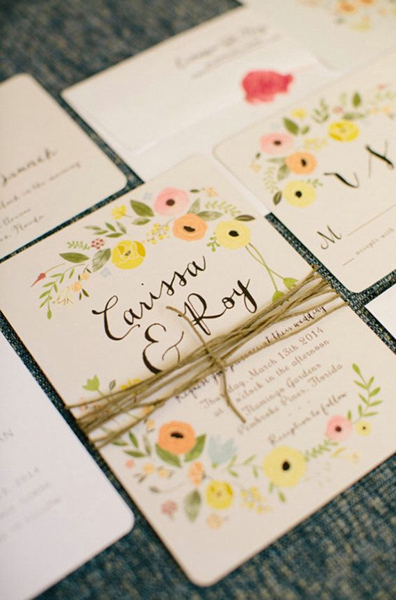 funny wedding invitation rsvp goes viral%0A Boho Chic Floral Wedding Invitation Set as by ChelsiLeeDesigns