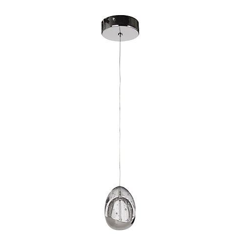 Egg - Suspensions, Lustres-Luminaires Suspension 1 lumière VERRE/CHROME D30cm