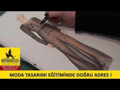 moda tasarimi cizim dersleri cizim teknikleri ruya avcisi resim kursu - YouTube