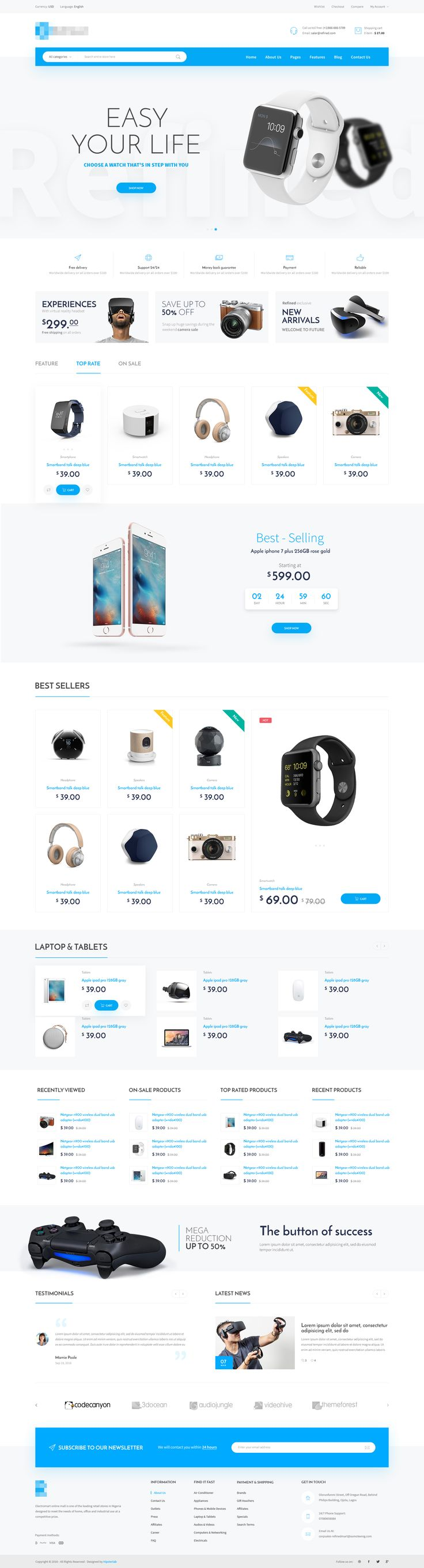 Electronics Store homepage