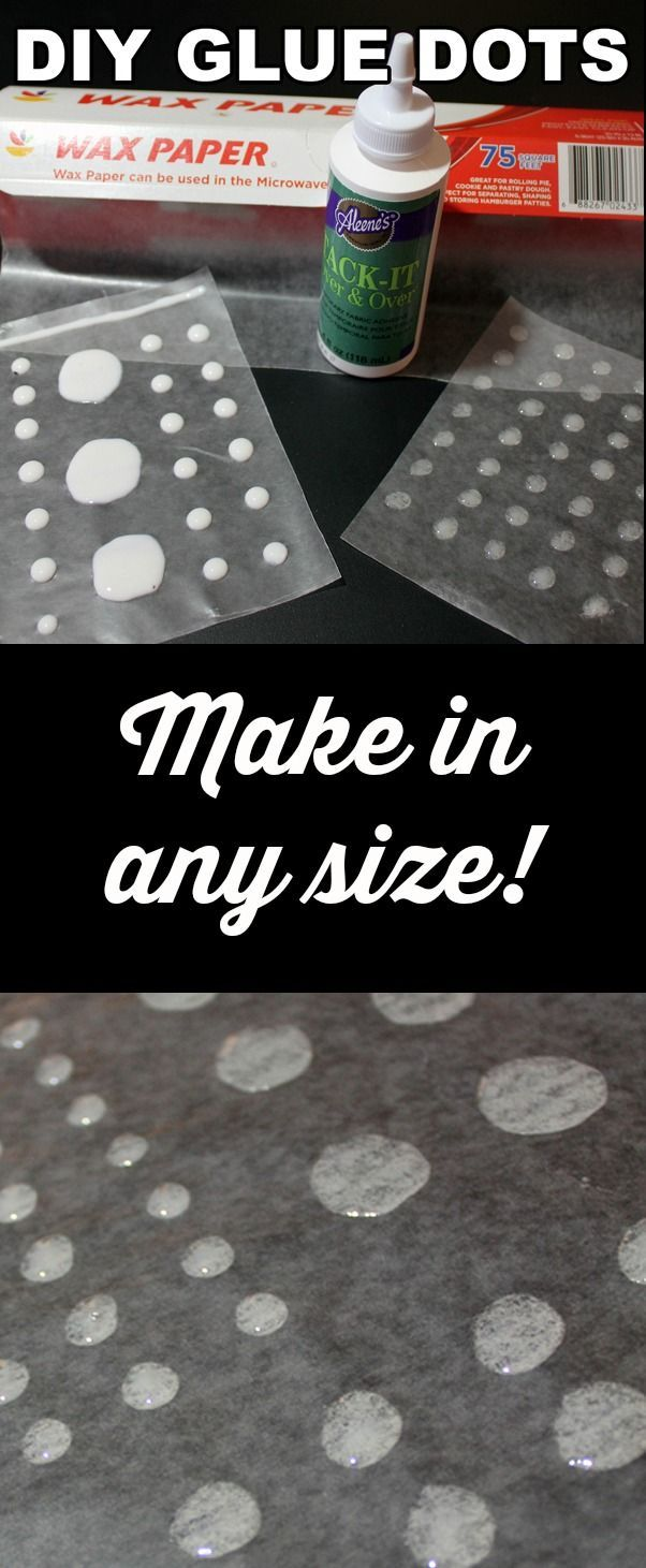 Make Your Own Peel and Stick Dots of Glue! | Glue dots