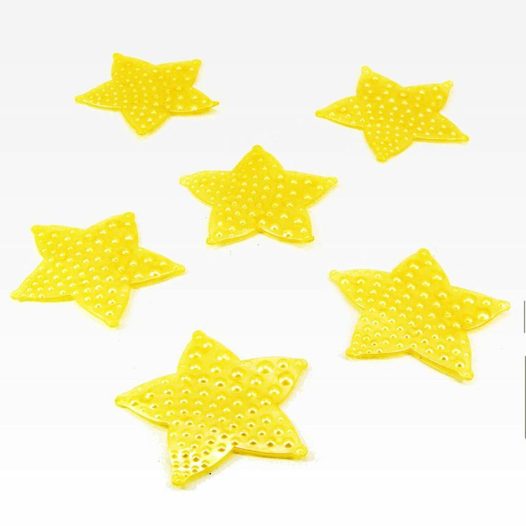 Anti-Slip Mini Bath Bathtub Shower Non-Slip Mats Yellow Starfish - 6 ct  106-003