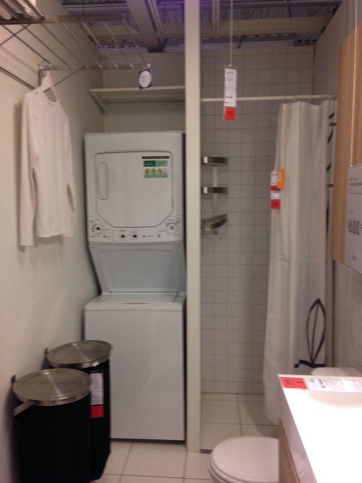 ikea bathroom for a half bath in basement where the heart is