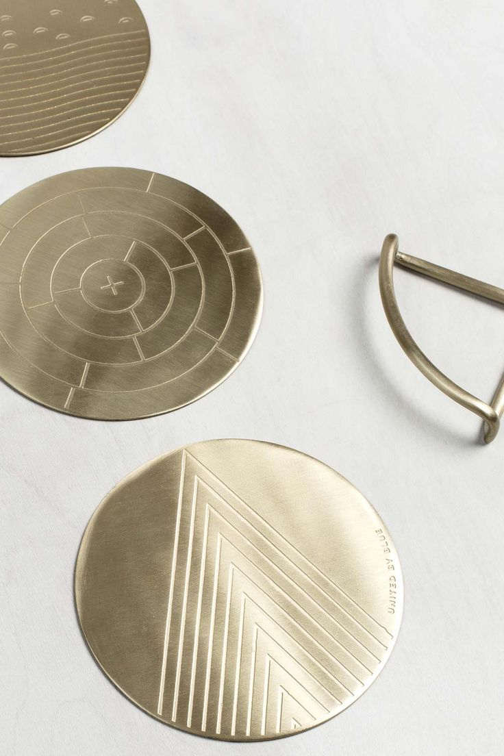 best coasters images on pinterest  coaster set coaster design  - our solid brass earthinspired coasters are the perfect addition to amodern gathering