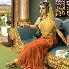 Queen Draupadi at Indraprastha