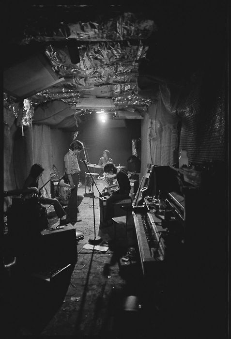 The Rolling Stones in rehearsal at Stephen Stills house, 1969.  photo by Ethan Russell