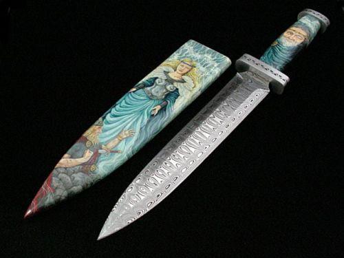 Custom-Fixed-Blade-Knife-by-David-Broadziak-The-Viking-Warrior