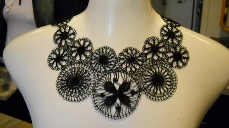 Teneriffe lace collar