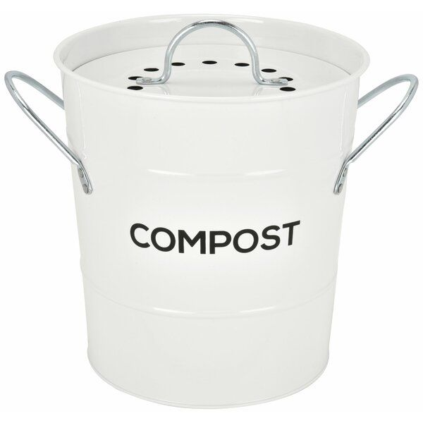 Steel 1 Gal Kitchen Composter In 2020 Kitchen Compost Bin Compost Compost Bin