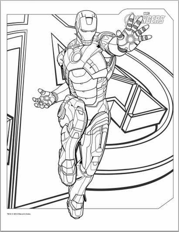 Iron Man From The Avengers Coloring Page