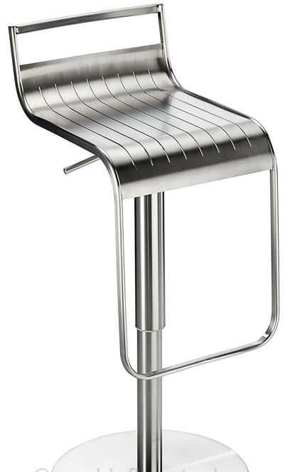 Celestial Brushed Stainless Steel Kitchen Breakfast Bar Stool Height Adjule