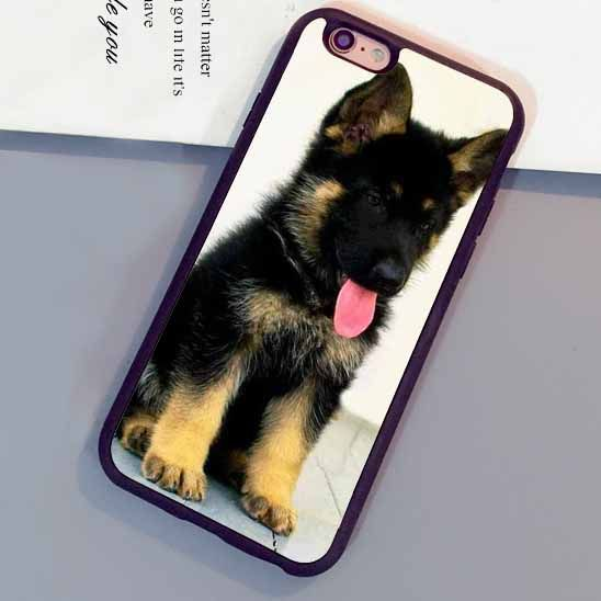 >> Click to Buy << German Shepherd Puppy Cute Fitted Phone Case Cover Coque For iPhone 6 6S Plus 7 7 Plus 5 5S 5C SE 4S  Soft Rubber Fundas Cover #Affiliate