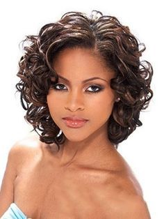 short curly human hair wigs for Afro American Women - Google Search