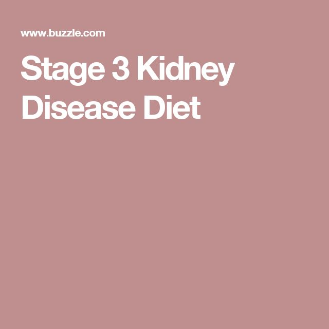 Stage 3 Kidney Disease Diet