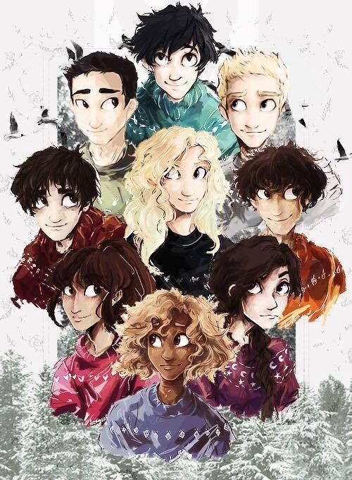 I love how the only two making eye contact are Percy and Annabeth.