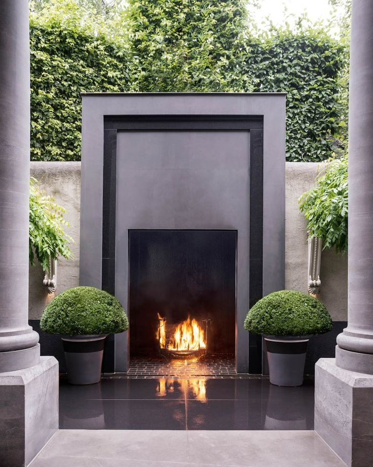 Fireplace Design inside outside fireplace : Best 25+ Modern outdoor fireplace ideas on Pinterest | Modern ...
