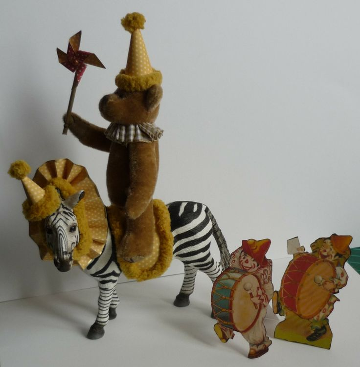 Circus Bear and Zebra, and Paper Clowns.