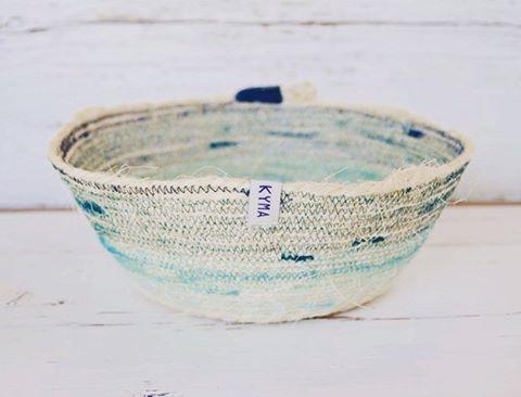 Handmade Sisal Coil Basket Korb ~ Nordic Design Style ~ http://kymastyle.wordpress.com ~ Dawanda Shop: http://dawanda.com/shop/kymastyle
