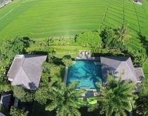 Bendega Villas Aerial View, Canggu, Bali.