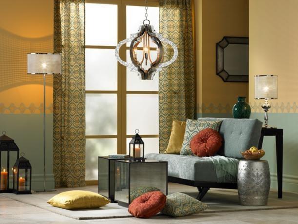 Décoration coin salon avec design de style ethnique, moderne et glam pinned with Pinvolve