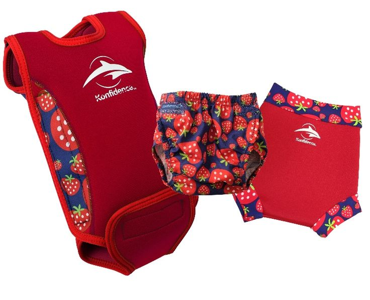 Colour co-ordinate with Konfidence's award winning Babywarma baby pool wetsuit - Strawberry