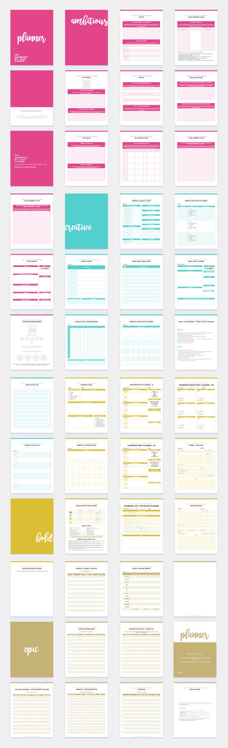 The Most EPIC Business Blog Planner Ever!