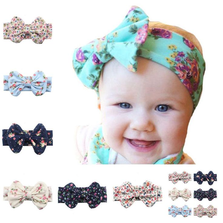 >> Click to Buy << Elastic Print Flower Cotton Big Bow Headband For Kid Girls Hair Accessories Turban Hair Band #Affiliate