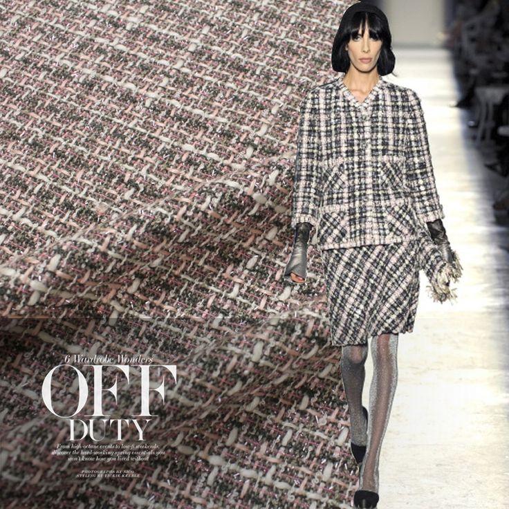 1 м шерстяной ткани для пошива камвольно шерсть ткать материал zakka лоскутное полотно tecido твид пальто юбка модно купить на AliExpress