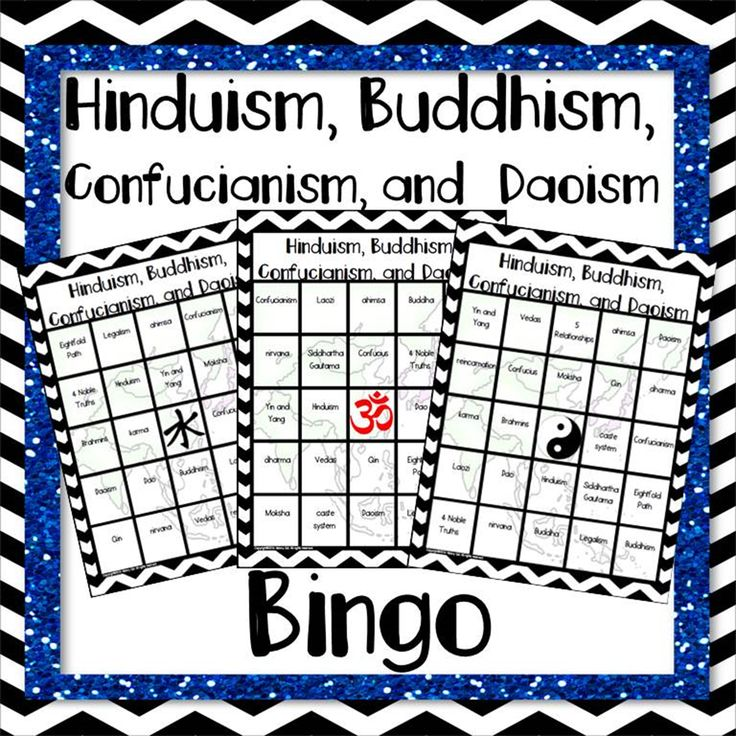Hinduism, Buddhism and Confucianism