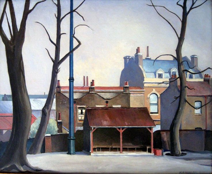 This is Grove Hall Park, Bow by Harold Steggles; in the show @Bow Arts pic.twitter.com/kwXX6gfPWW