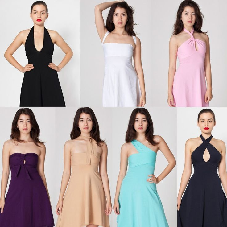 Different ways to wear the american apparel halter dress